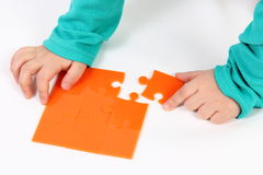 Child With Puzzle Royalty Free Stock Image