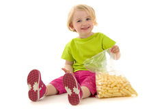 Child With Snack Royalty Free Stock Photography
