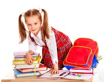 Free Child With Stack Book. Stock Images - 26671514