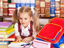 Free Child With Stack Book. Royalty Free Stock Photo - 27569035