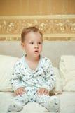 The child woke up Royalty Free Stock Photo