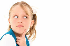 Child Wondering Royalty Free Stock Photos