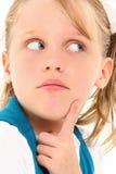 Child Wondering Royalty Free Stock Photos