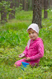 The child in the wood Stock Photos
