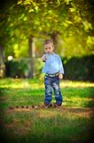 The child in the wood Royalty Free Stock Image