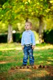 The child in the wood Stock Images