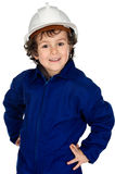 Child  with work clothes Royalty Free Stock Photo