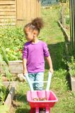 Child working allotment royalty free stock images