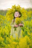 Child with wreath Royalty Free Stock Images