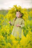 Child with wreath Royalty Free Stock Photos