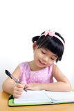 Child writing Stock Photography