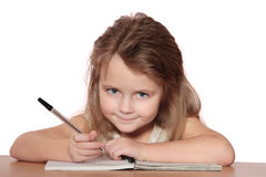 Child writing Royalty Free Stock Photo