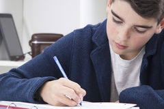 Child writing Royalty Free Stock Images