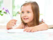 Child writing Royalty Free Stock Image