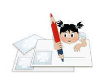 A child writing a letter (to santa) Royalty Free Stock Photography