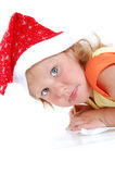 Child writing a letter to Santa Claus royalty free stock photos