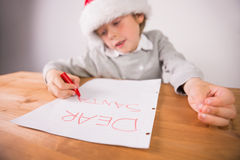 Child writing letter to santa Royalty Free Stock Photography