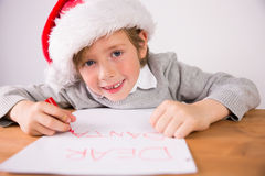 Child writing letter to santa Royalty Free Stock Photo