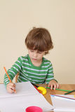 Child Writing, School Education Stock Image
