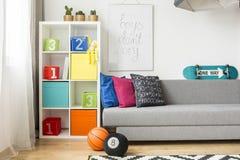 Child& x27 простого дизайна; идея комнаты s Стоковые Изображения