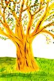 Child' bosquejo de s de un árbol Imagen de archivo libre de regalías
