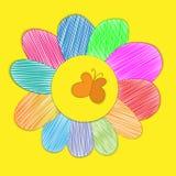Child& x27 de la flor; dibujo de la mano de s Imagenes de archivo