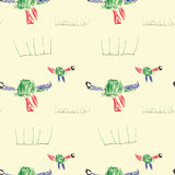 Child& x27 di Dinos; disegno di s Immagini Stock Libere da Diritti