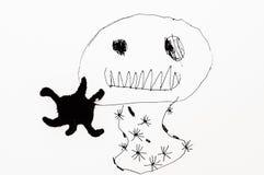 Child& x27; fantasmi del disegno di s Fotografie Stock Libere da Diritti