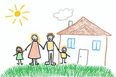 Child& x27; s-Zeichnung Lizenzfreies Stockfoto