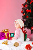 Child with xmas decoration Royalty Free Stock Image