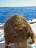 Child on yacht Royalty Free Stock Photo