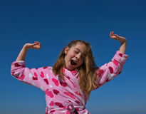 Child yawning Royalty Free Stock Images
