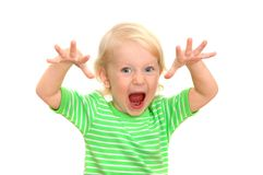 Child yells Stock Photos