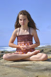 Child yoga Stock Image