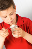 The child of yogurt 2 Stock Image