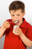 The child of yogurt 11 Stock Photography