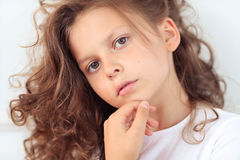 Female child. Child. Young girl in close-up Royalty Free Stock Image