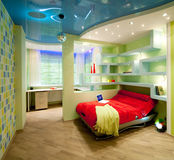Child and youth room in disco style Royalty Free Stock Photography