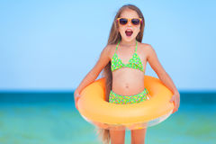 Childat the beach Royalty Free Stock Photos