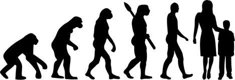 Childcare Evolution vector. Occupation kindergarden royalty free illustration