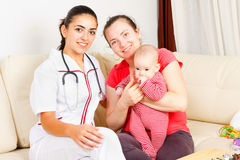 Childcare at home Stock Image
