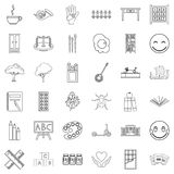 Childcare icons set, outline style. Childcare icons set. Outline style of 36 childcare vector icons for web isolated on white background vector illustration
