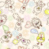Childe drawing seamless pattern Royalty Free Stock Image