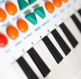 childern钢琴 免版税图库摄影