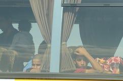 Childern från Syrien Arkivbilder