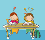 Childern learning Royalty Free Stock Image