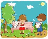 Childern learning Stock Photo
