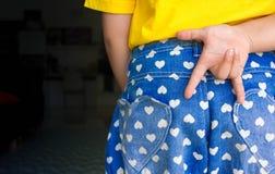 Childern przedstawienia ręki miłość ty Fotografia Stock