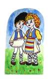childern teckning s Arkivfoto