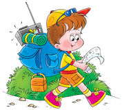 Childhood 011. Children's illustration Stock Images